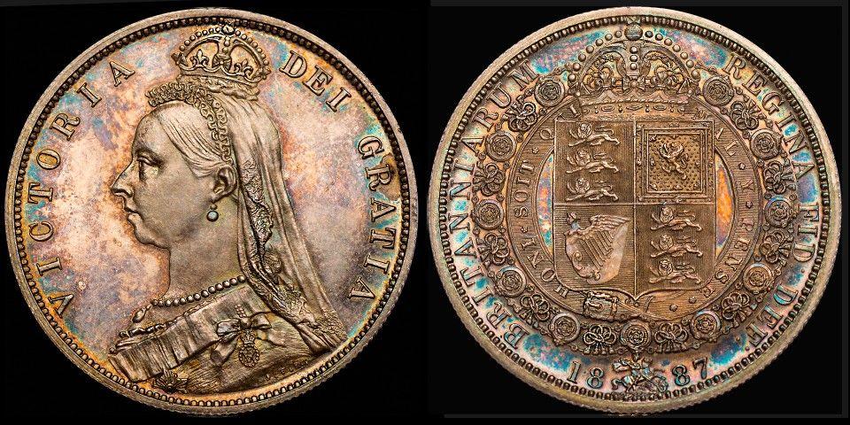 VICTORIA (1837 – 1901) 1887 PROOF HALFCROWN | £1,000 | Victoria