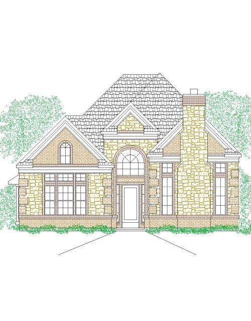 House Plan 1946 161 Traditional Stone Front Elevation 1946 Sqft