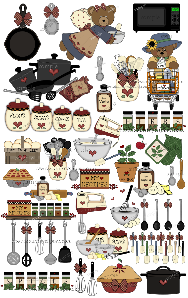 Red House Inspired Clipart MINI COLLECTION Illustration Planner Stickers Digital Artwork Planner