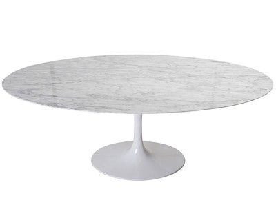 Office Furniture Tulip Dining Table Oval By Eero