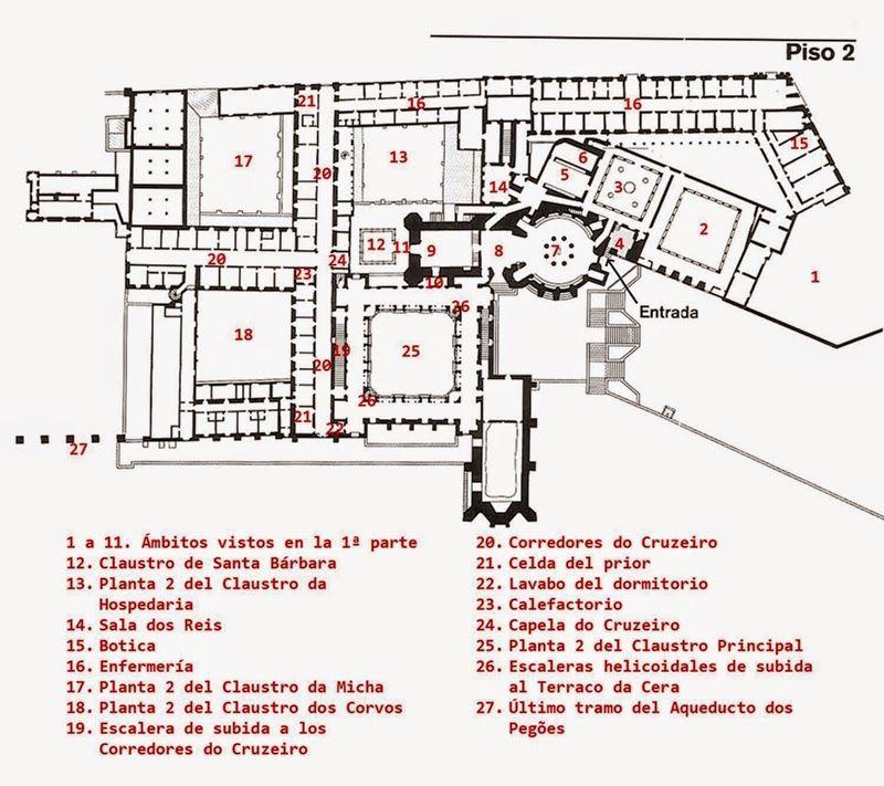 El Convento De Cristo De Tomar Ii Los Claustros Joaninos Y Otras Ampliaciones Cristo Capela Planos