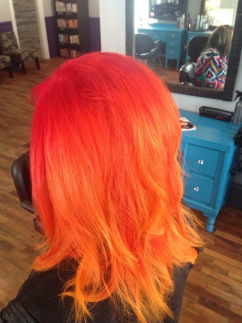 Flame Redorange Yellow Prettys Pinterest Yellow Hair Cool