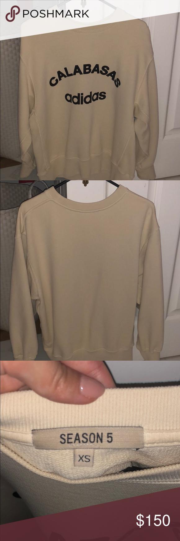 Yeezy Season 5 Calabasas Sweatshirt Yeezy Sweater Long Sleeve Tshirt Men Sweatshirts [ 1740 x 580 Pixel ]