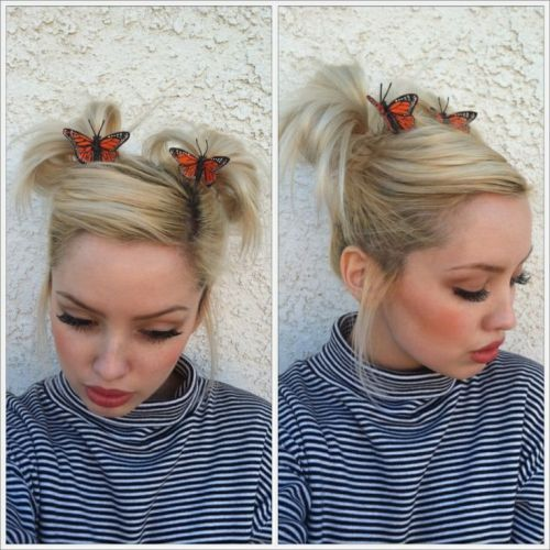 9 Cute Ponytail Hairstyles For Short Hair Styles At Life Cute Ponytail Hairstyles Short Hair Ponytail Short Hair Updo