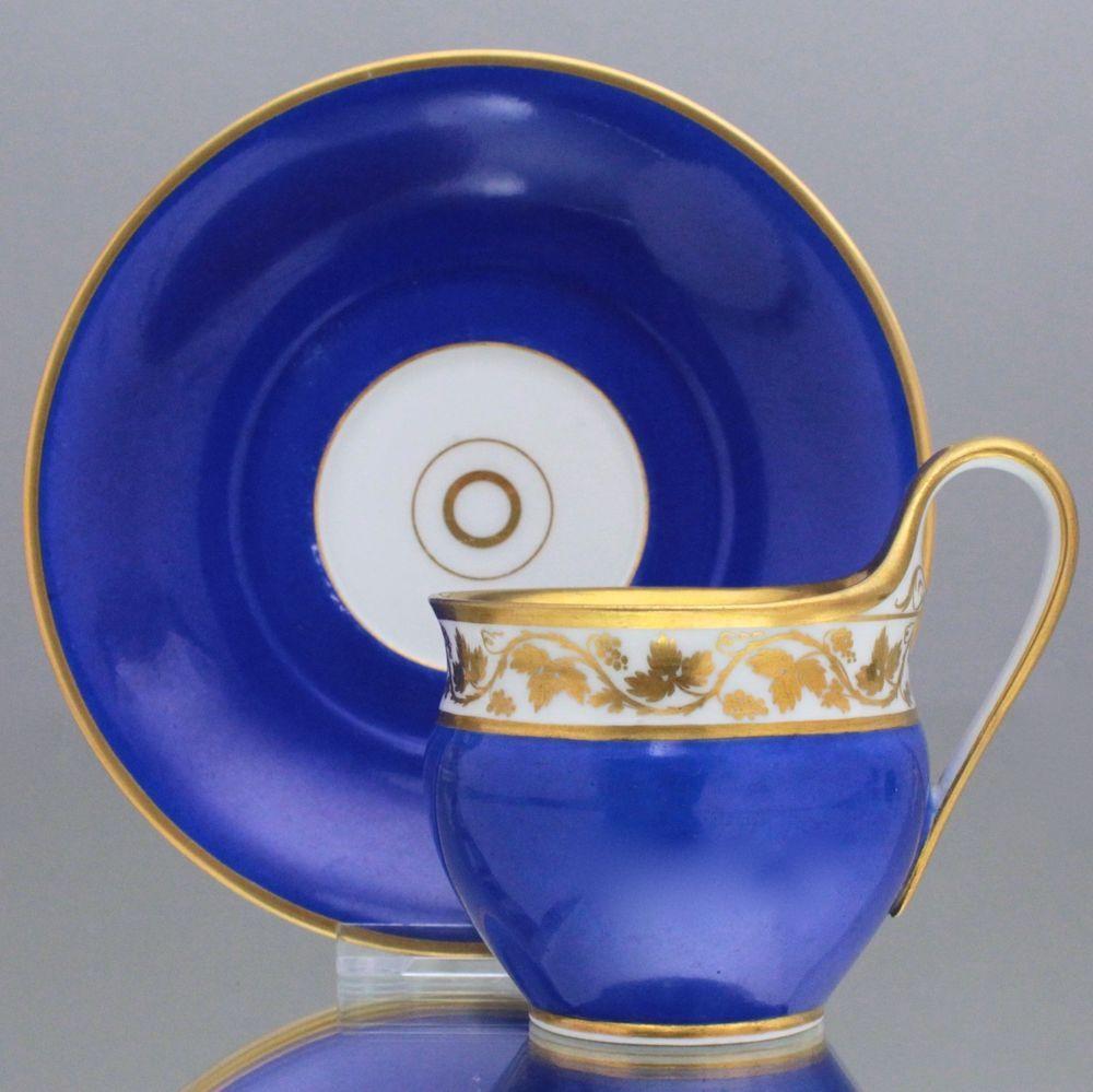 Kpm Berlin Tasse Etrurisch In Preussisch Blau Und Gold Weinlaub Campaner 1800 Kpm Porzellan Tassen Teetasse