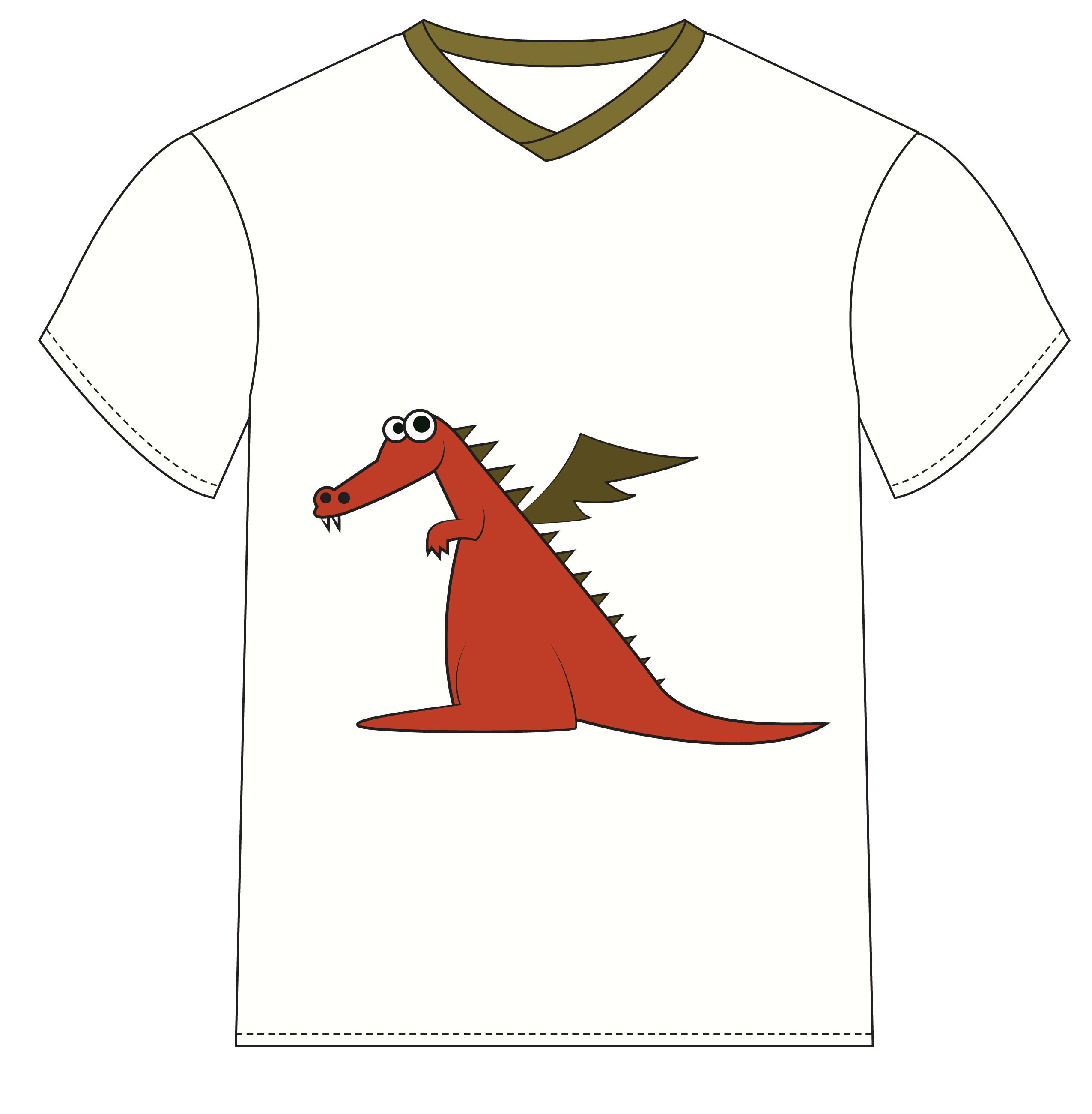 Make Dragon T Shirt Simple And Easy Dragon Crafts