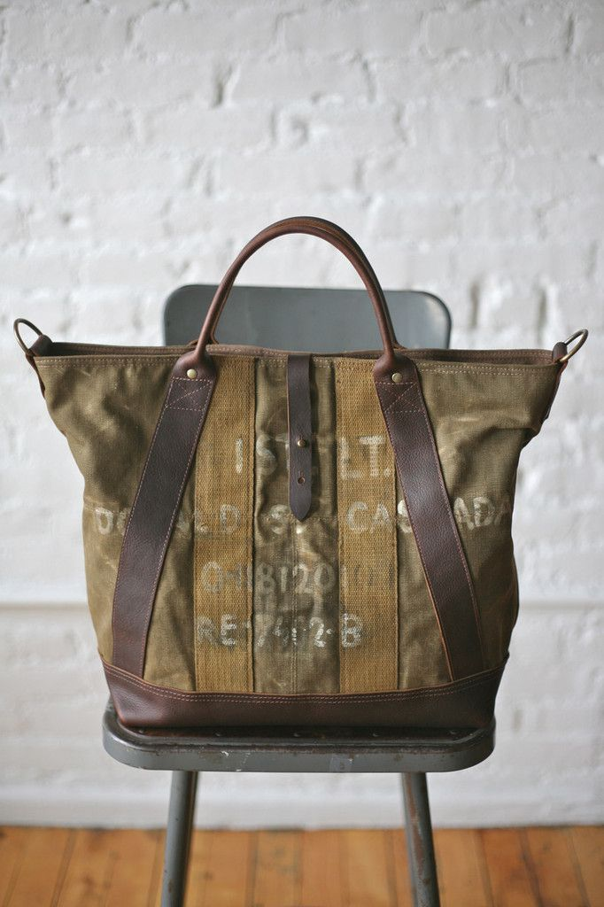 823807e12e8f WWII era Military Canvas Weekend Bag FORESTBOUND