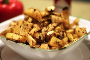 Preheat oven to 400° F Placed peeled and sliced rutabaga in a large bowl and add the remaining ingredients toss together until the fries are thoroughly coated with seasoning. Spread fries on a non stick baking sheet Place in oven for approx 25 minutes, turn fries on baking sheet after about 12 minutes continue to ...