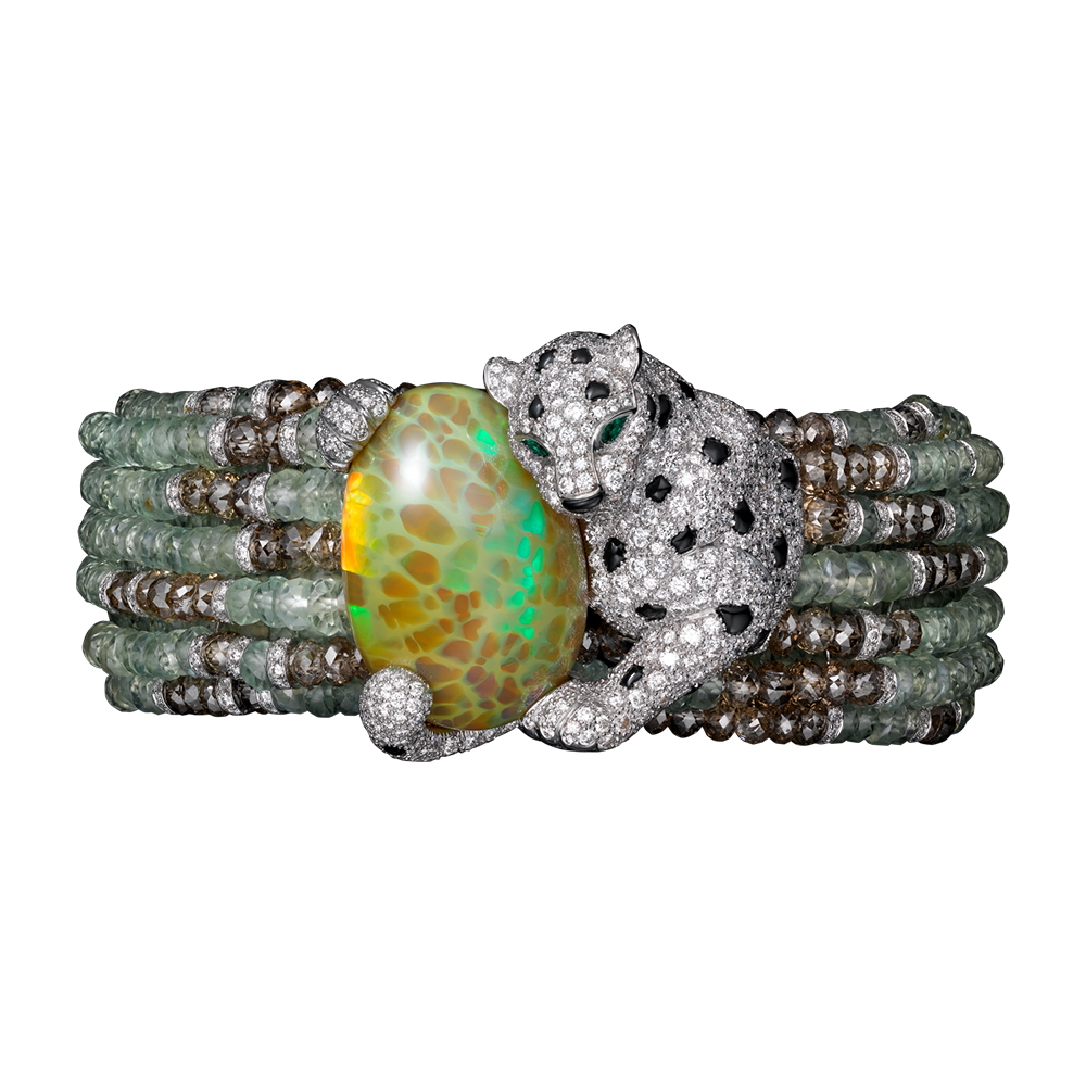 High jewelry panth re de cartier bracelet white gold for Haute joaillerie cartier