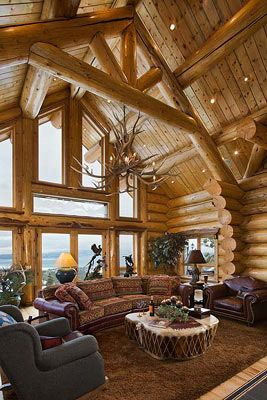 Log House Interior Log Homes Dream House Interior House