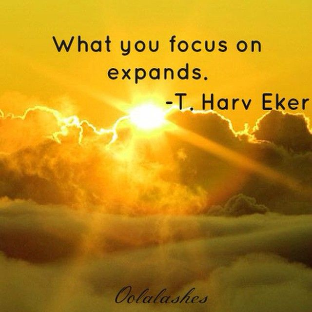 Law of Attraction What you focus on expands