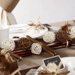 Decoration de mariage marron et blanc