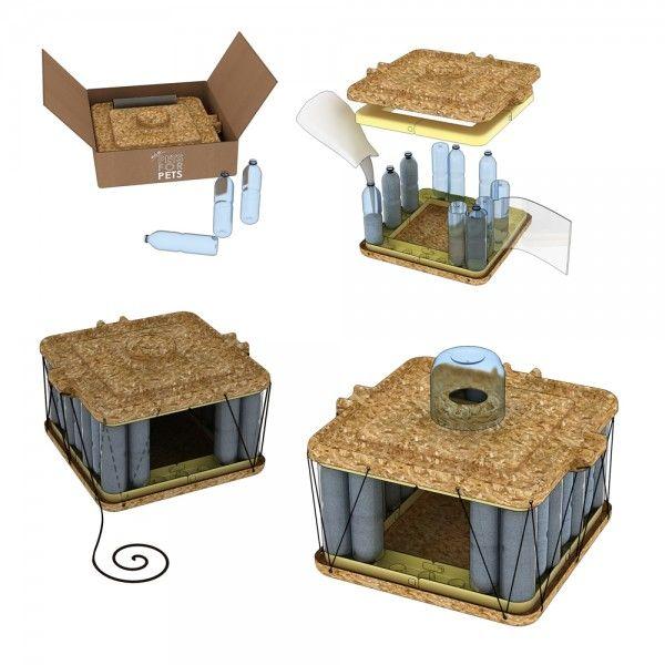 Il kit fai da te per realizzare casette per animali con le for Vasche di plastica per tartarughe