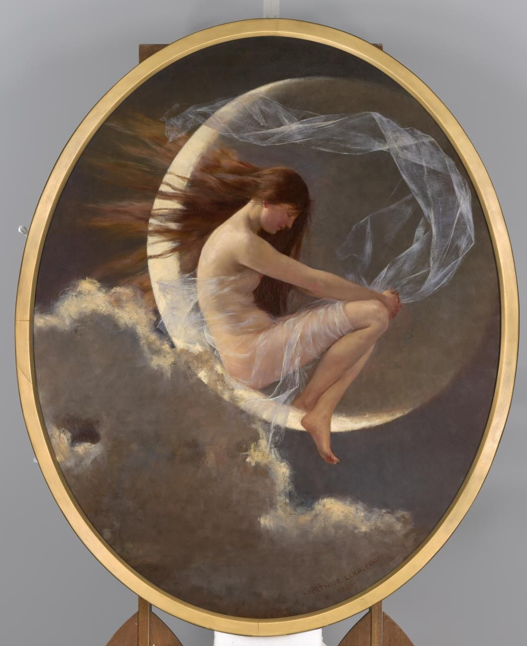 The spirit of the new moon, 1888 ~ Artur José de Sousa Loureiro 1853-1932