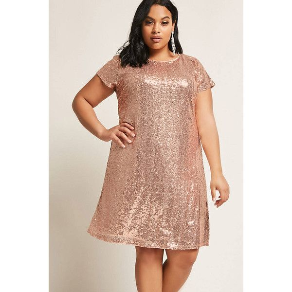 Forever21 Plus Size Metallic Sequin Dress 48 Liked On Polyvore