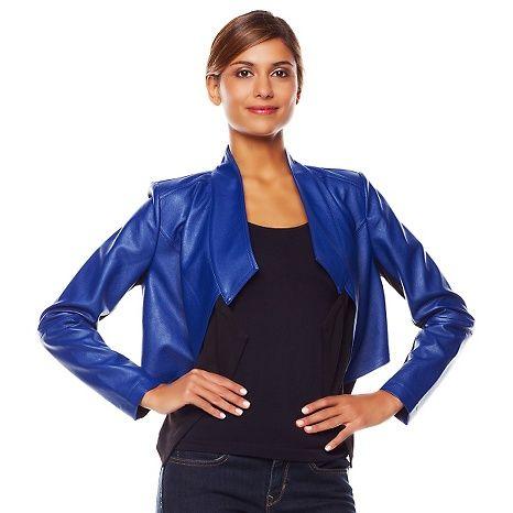 G by Giuliana Rancic Ultra Luxe Cascading Jacket #LapisBlue #GbyGR