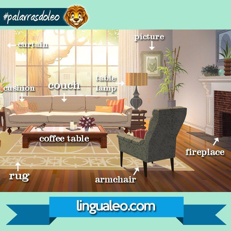 Vocabulario Moveis Da Sala De Estar Vocabulary Living Room Furniture