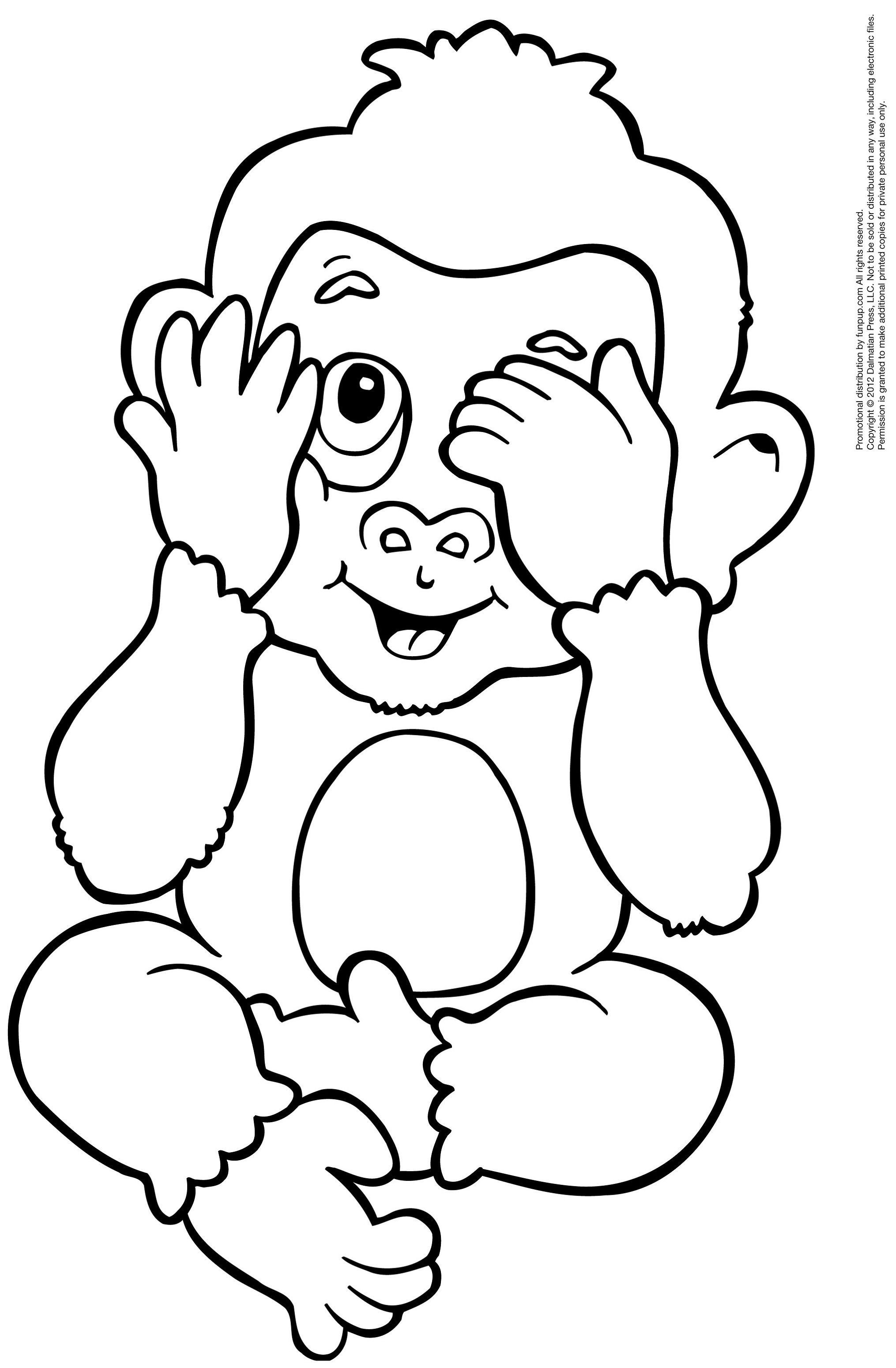 Coloring Pages Of Monkeys Kids Learning Activity Monkey Coloring Pages Owl Coloring Pages Cute Coloring Pages