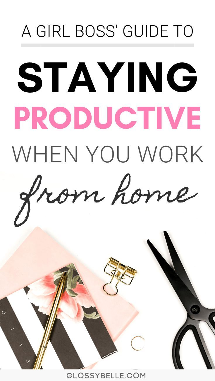 How To Be More Productive When You Work From Home If you work from home and find that you're unfocused and often get distracted, learn about the methods I've used to successfully be more productive with my time, skyrocket my efficiency rate, and get more done in this post.