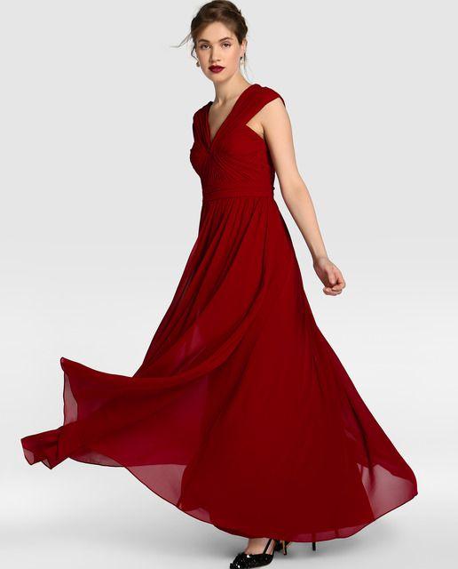 Vera Rojo Vestido Fiesta For Cuerpo Tintoretto Mujer De Wang Con y80vNmnwO