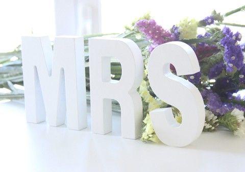 mrs letras decorativas