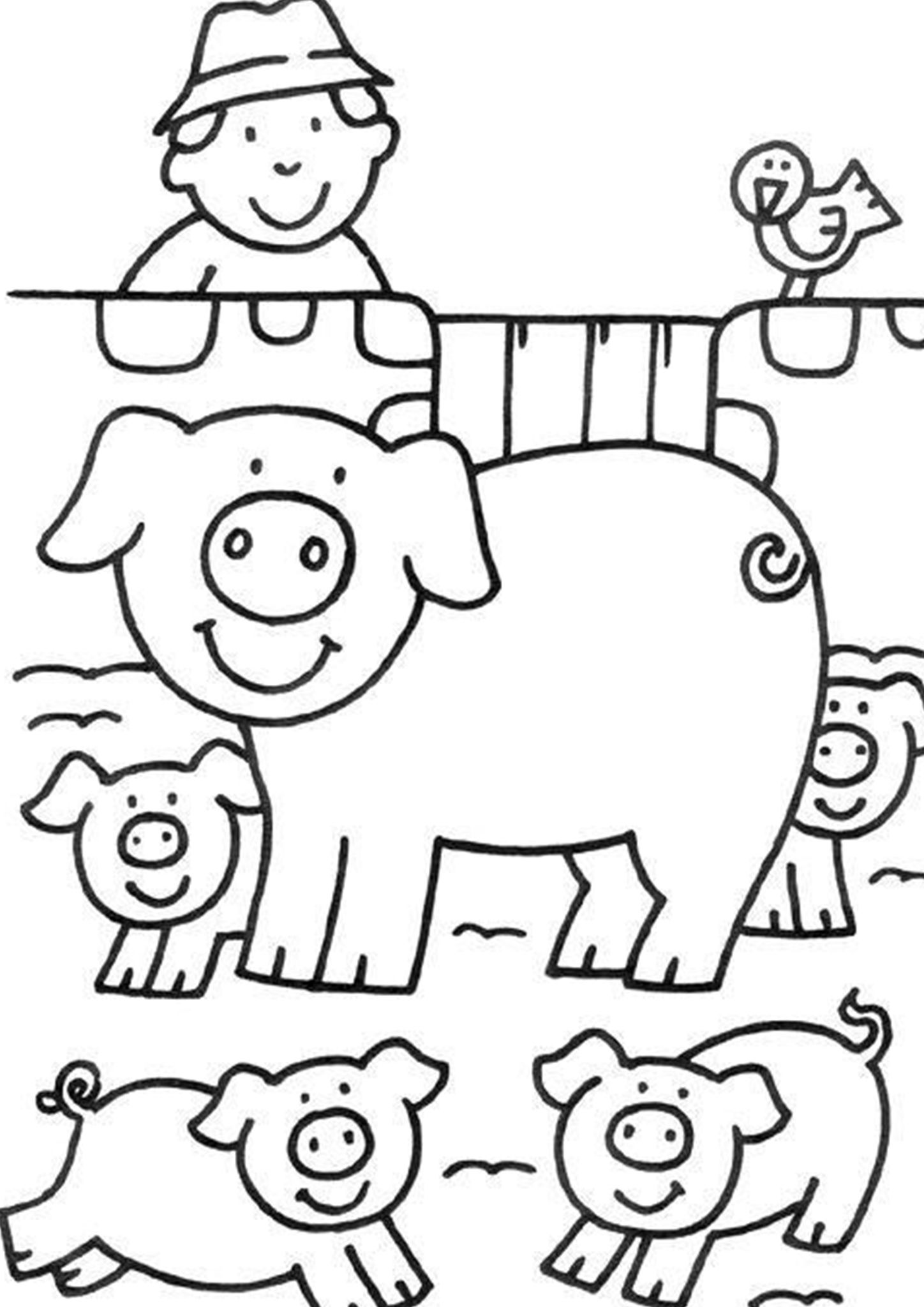 Printable Colouring Pages Farm Animals