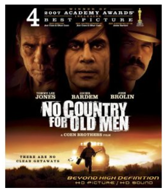 DEAL: No Country For Old Men [Blu-ray] –$4.96 shipped! (Reg. $ 19.99)