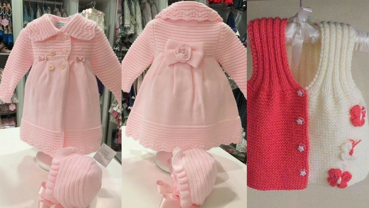 6231751adbac BEST woolen frock design for baby girl  cutest sweaters design ideas ...