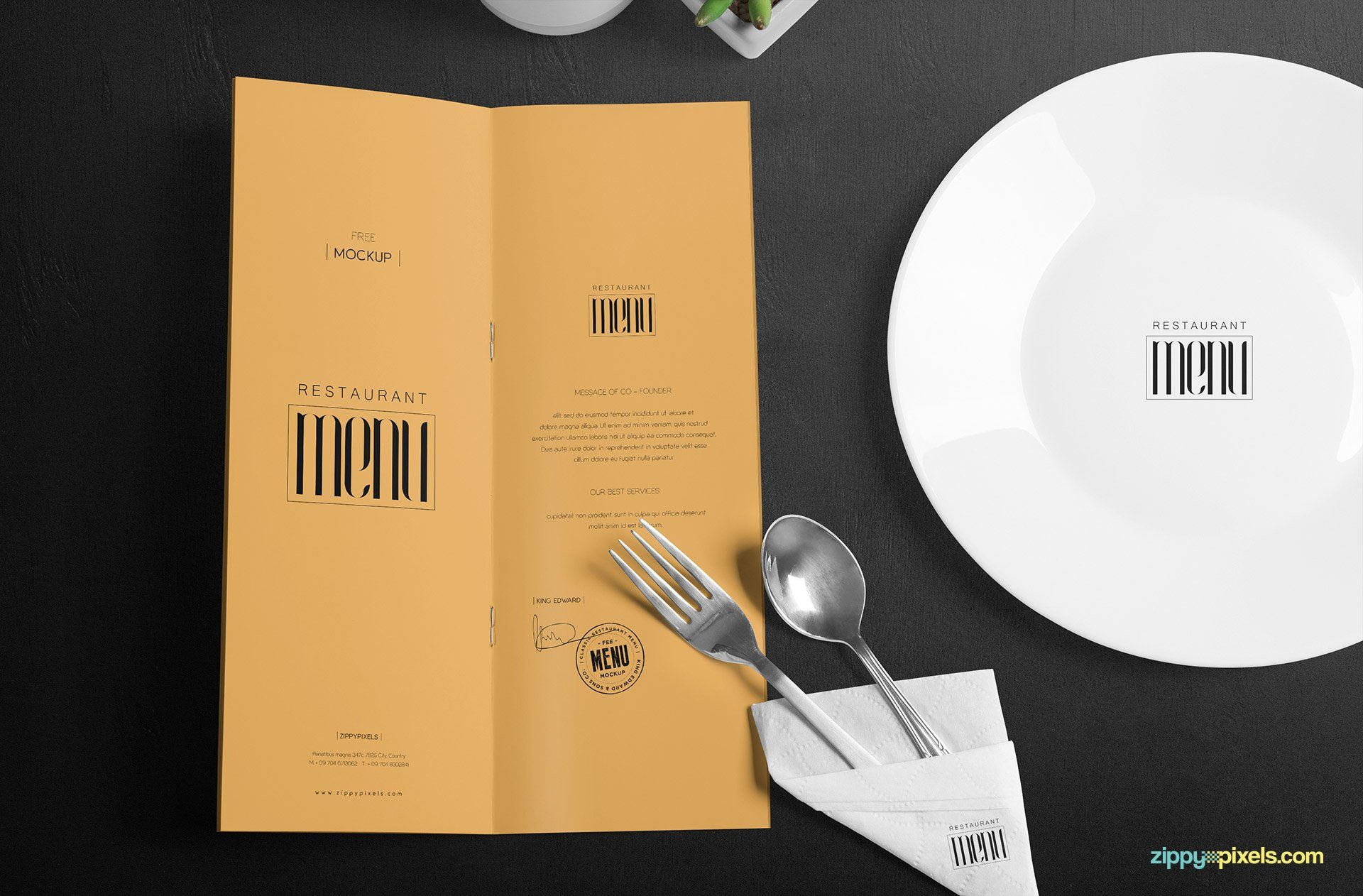 sophisticated free menu for any designer that is looking to display