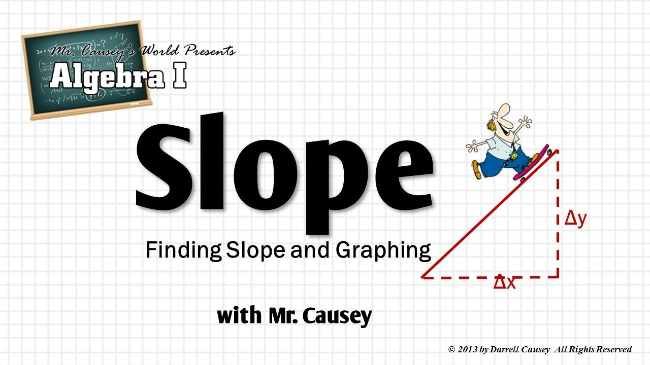 Algebra how to find slope yintercept and graph a line