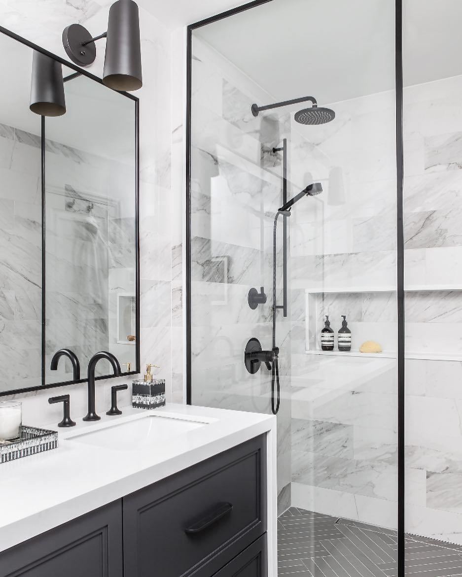 Black Matte Shower Abelgilbertgroup Interiordesign Decorativehardware Homedecor Diy Remodel Modern Bathroom Design Modern Bathroom Best Bathroom Designs [ 1171 x 937 Pixel ]