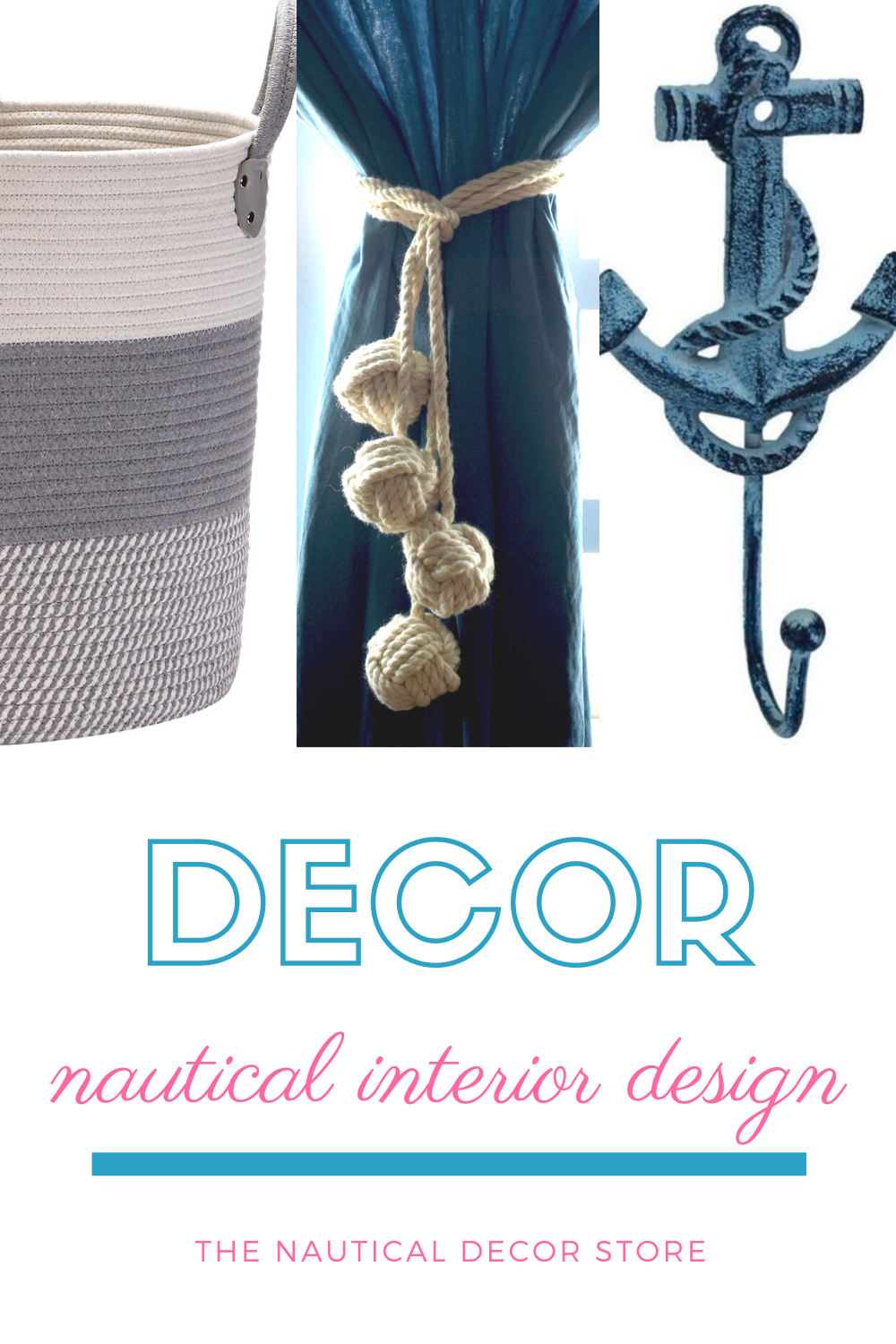 Discover stylish decor that will suit any nautical, beach or coastal interior design style. If you're looking to create your dream home, whether that's a beach house or farmhouse, you can't go wrong with these top picks. This collection of decor is perfect for all over the home and will help you get the nautical aesthetic you really want. #interiordesign #homedecor #nauticaldecor #beachhouse