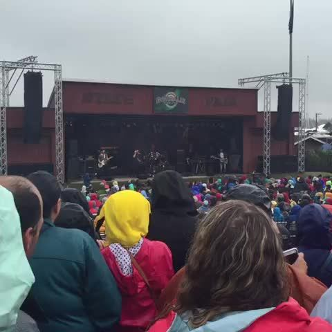 Right here right now andygrammer on stage. Rain? What rain? #AlaskaStateFair