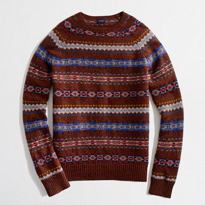 J Crew Factory lambswool Fair Isle sweater (also in grey) | Stylin ...