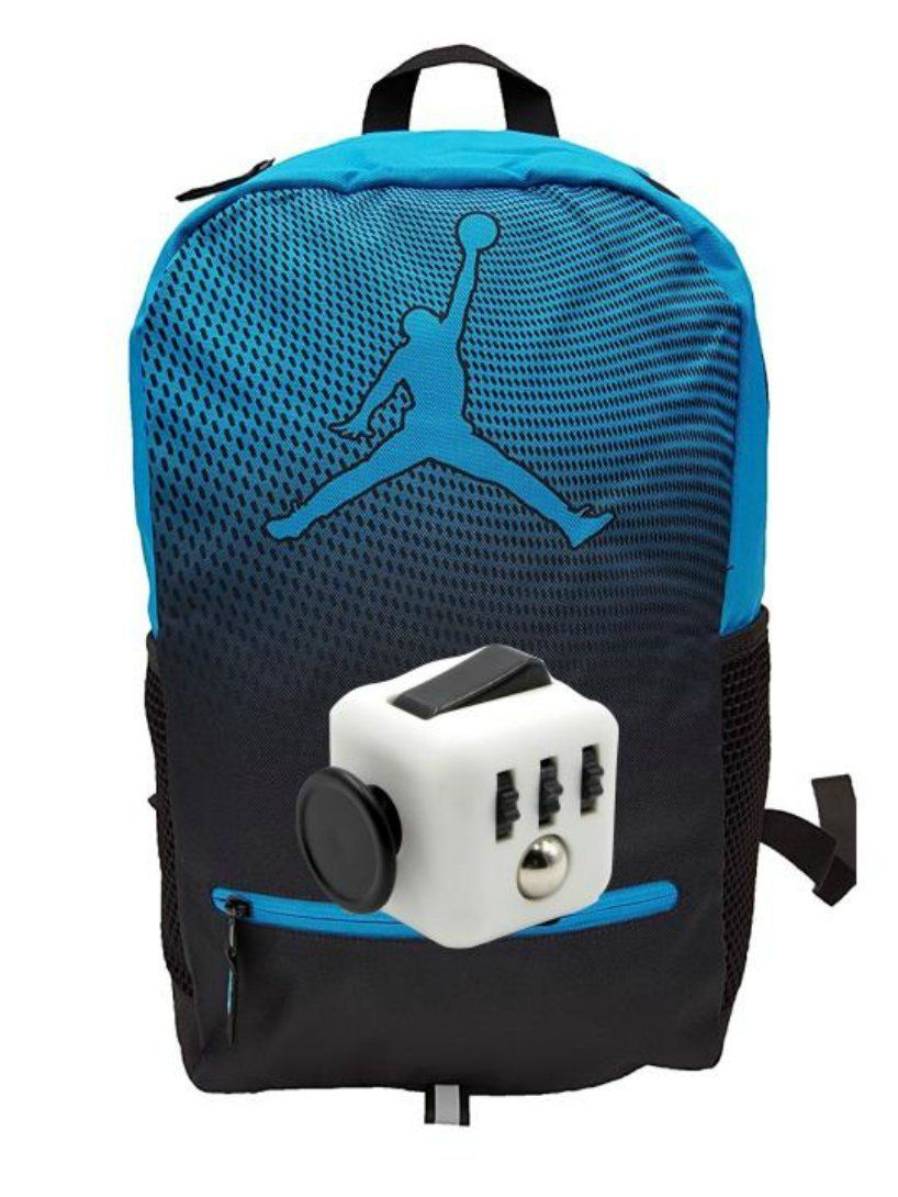 4ff08a05b659 Amazon.com  Nike Air Jordan Jumpman Youth 23 Backpack Book Bag + FREE  FIDGET CUBE (Blue Lagoon)  Sports   Outdoors