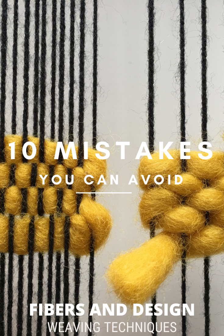 Here are 10 common mistakes that beginner weavers can avoid. In this tutorial learn how to fix common weaving problems on a frame loom.