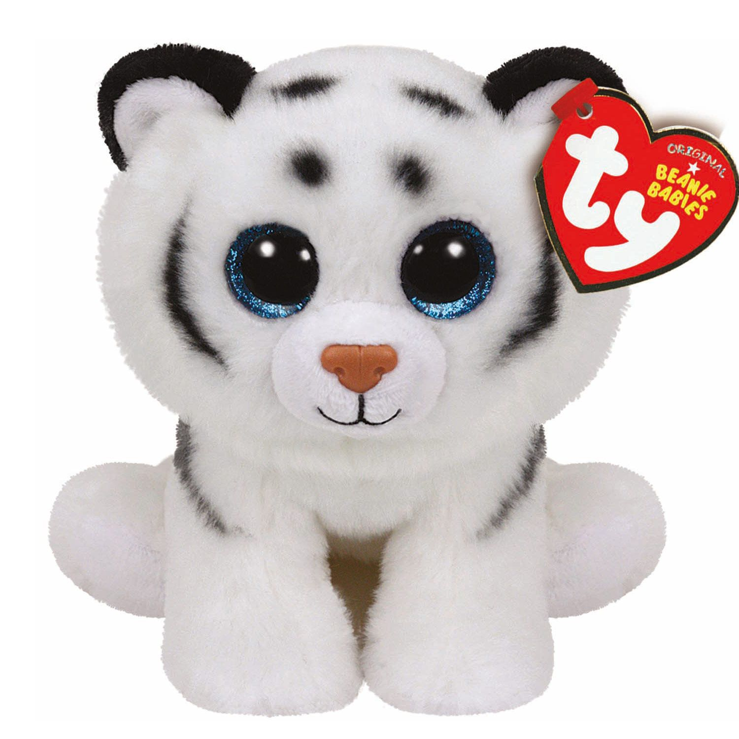TY Beanie Baby Tundra the White Tiger Soft Toy  885dca2d906a