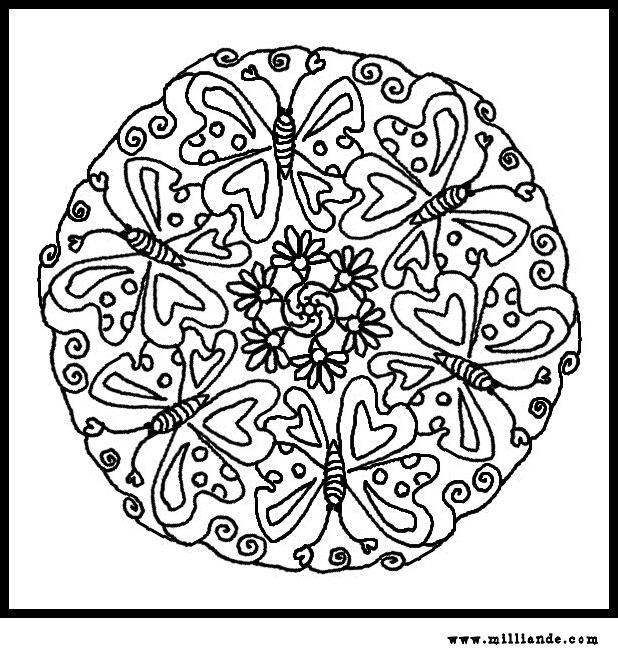 Image detail for -Butterfly Mandala Coloring Pages,Free Printable ...