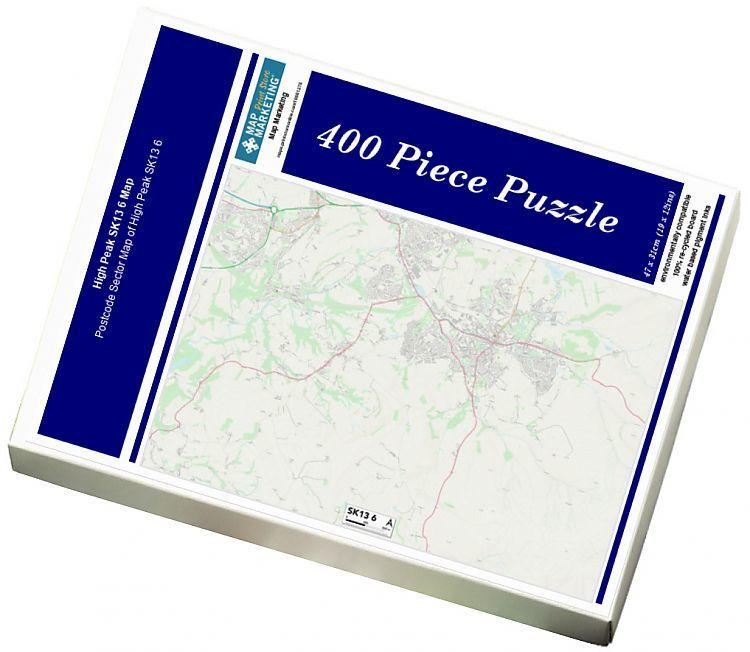 Jigsaw Puzzle High Peak SK13 6 Map