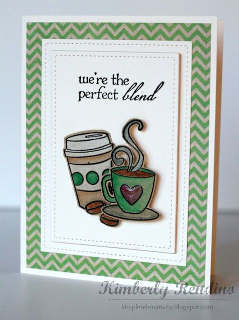 Coffee card by Kimberly Rendino | kimpletekreativity.blogspot.com