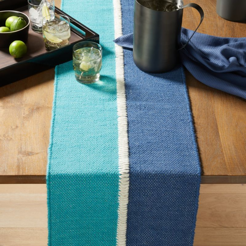 Free Shipping Shop Teagan 90 Wool Table Runner Oversized Ivory