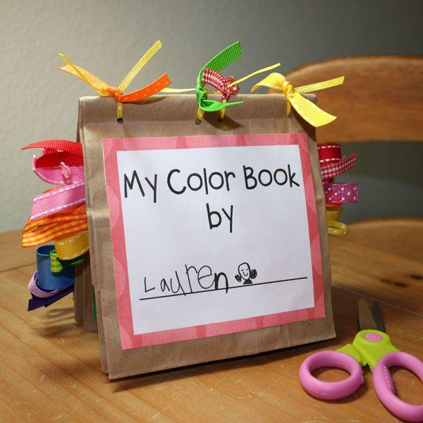 Free printable color book preschool craft
