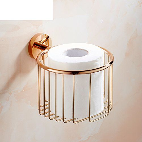 European Wide Copper Toilet Paper Box Gold Color Paper Towel Holder Rose Gold Tissue Gold Bathroom Decor Gold Bathroom Accessories Copper Bathroom Accessories
