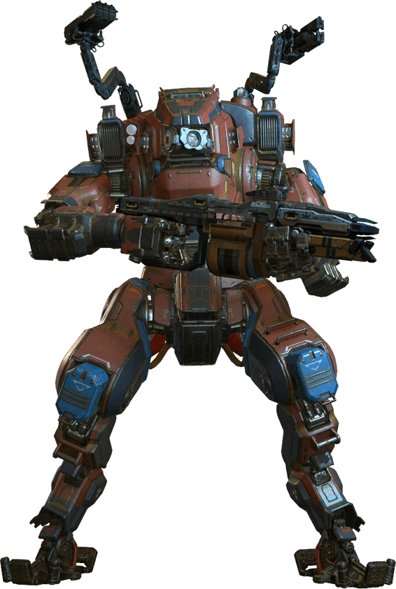 Monarch Is A Titan Appearing In Titanfall 2 Added In The Monarch S Reign Update The Monarch Is Based Upon The Vanguard Class Mecha Tanks Titanfall Mech Suit