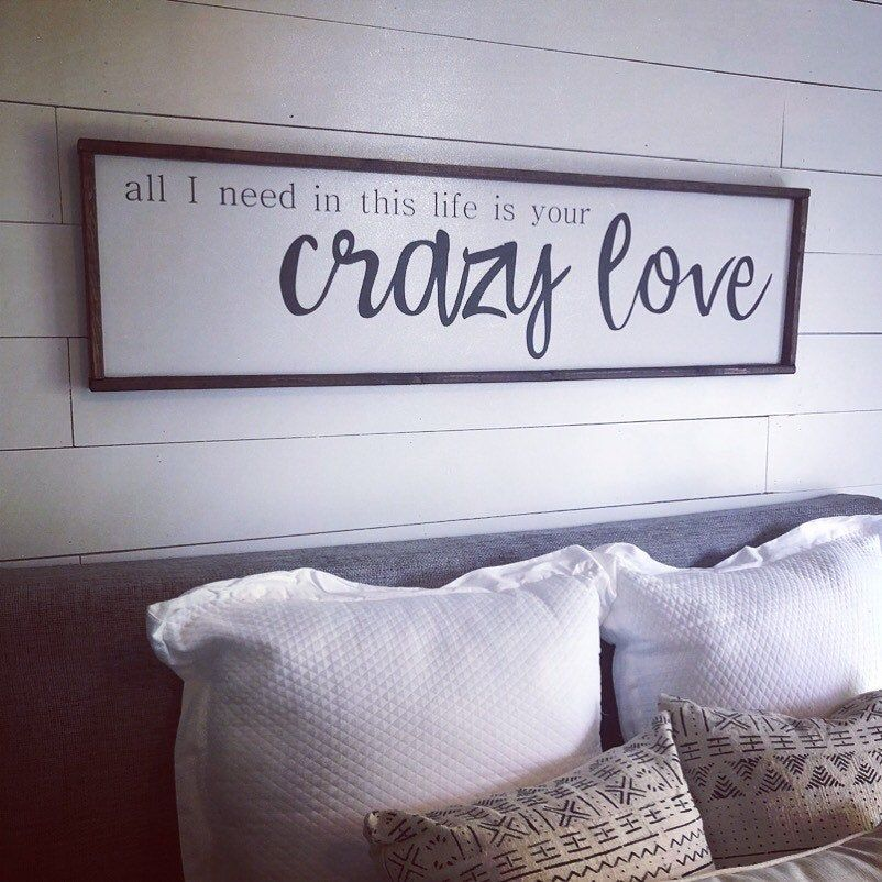 Crazy love. above the bed sign FREE SHIPPING | Etsy ...