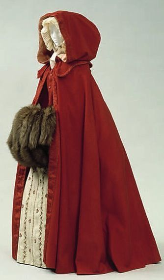 Massive fur muff with an 18th century cape via The Costume Institute of the Metropolitan Museum of Art.