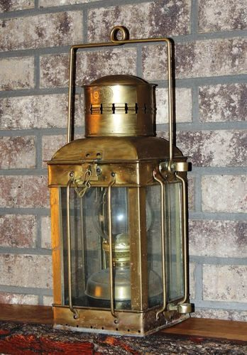 Details About Brass Amp Copper Anchor Oil Lamp Leeds Burton Nautical Maritime 14 Quot Ship Lantern