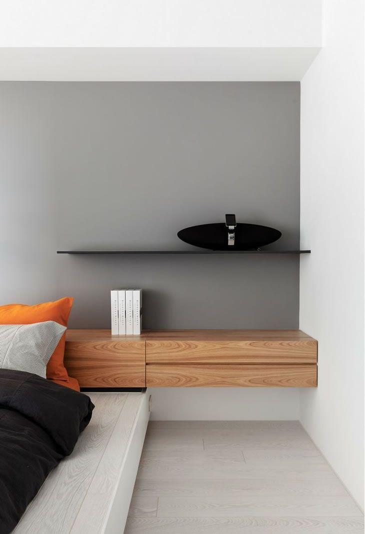 ideas de habitaciones minimalistas06 Camas Pinterest