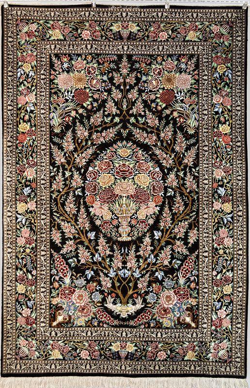 Tree Of Life Pure Silk Qum 80 Raj