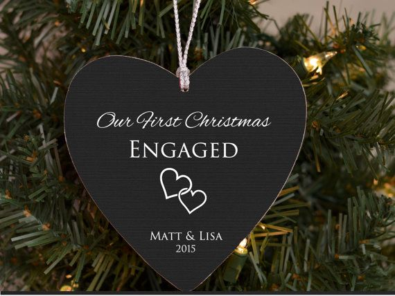 newly engaged just married christmas ornaments first christmas christmas love diy christmas gifts
